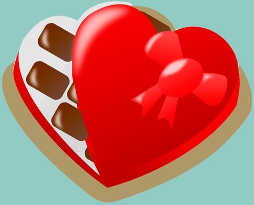 San Valentín, enamorados, fiesta, chocolate